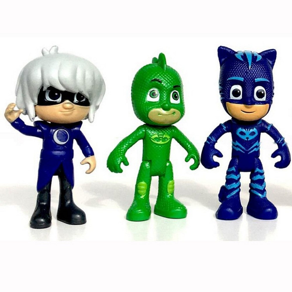 New Arrival 6pcs/set 8-9cm Pj Masks Characters Catboy Owlette Gekko Cloak Action Figure Toys Boy Birthday Gift Plastic Dolls