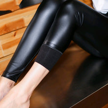 Load image into Gallery viewer, Women Skinny Faux Leather Stretchy Pants Leggings Pencil Tight Trousers Fashion