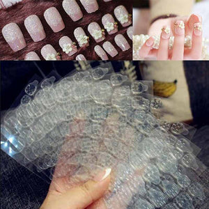 Double Sided Adhesive Glue Tapes Nail Art Tabs Clear Manicure for Fake Nails Tip