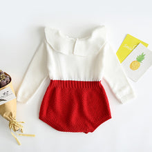 Load image into Gallery viewer, Autumn Cute Infant Baby Girls Newborn Long Sleeve Jumpsuit Knitted Ruffle Romper