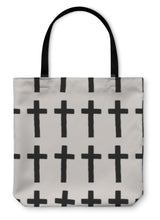 Load image into Gallery viewer, Tote Bag, Cross Pattern