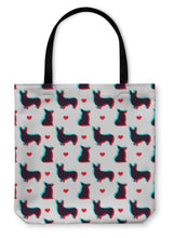 Load image into Gallery viewer, Tote Bag, Corgi Dog With 3d Effect Pattern For Use In Design