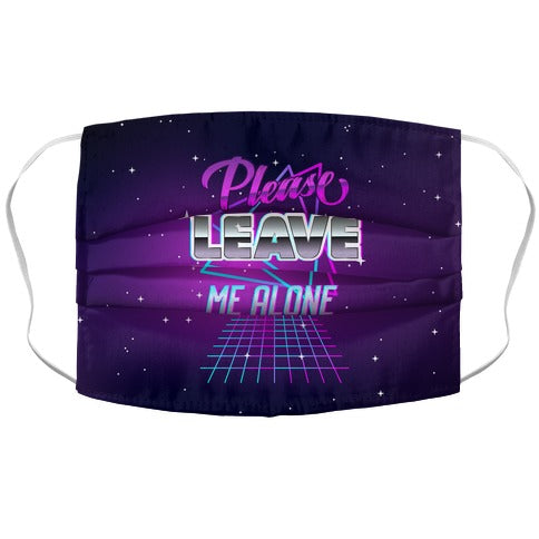 Please Leave Me Alone Retro Wave Face Mask Cover