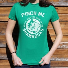 Load image into Gallery viewer, Pinch Me Shamrocks T-Shirt (Ladies)