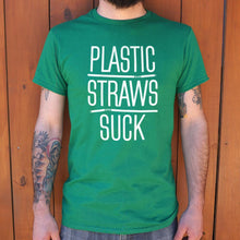 Load image into Gallery viewer, Plastic Straws Suck T-Shirt (Mens)
