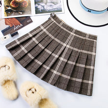Load image into Gallery viewer, Zipper High Waist School Girl Pleated Plaid Skirt