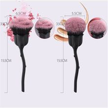Load image into Gallery viewer, Single Black Large Area Rose  Petal Makeup Brush