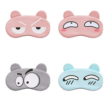 Load image into Gallery viewer, Cotton Cartoon Face Sleep Eye Mask