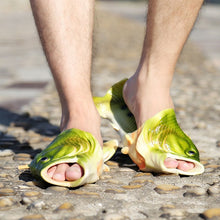 Load image into Gallery viewer, Beach Shoes- Flip flop, Fish shape