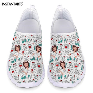 Nurse Doctor Print  Slip On Light Mesh Shoes