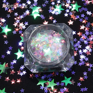 1Box Colorful Butterfly Nail Flakes