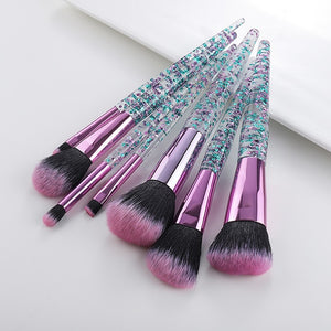 Glitter Makeup Brushes Set