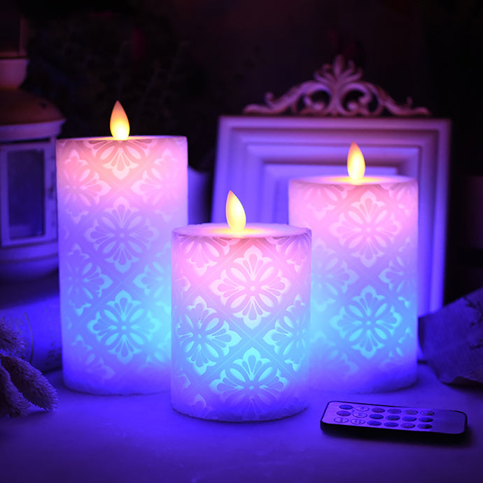 Wireless Remote Control Led Candle With Dancing Flame