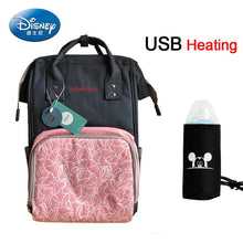 Load image into Gallery viewer, Disney USB Heating Mummy Diaper Bag