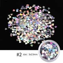 Load image into Gallery viewer, 1Box Colorful Butterfly Nail Flakes