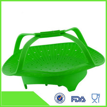 Load image into Gallery viewer, Silicone Vegetable/Food Steamer Basket
