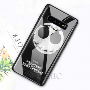 The Nightmare Before Christmas Tempered Glass Case for Samsung Galaxy S10e S8 S9 S10 Plus A50 A70 Note 9 10 Phone Cover