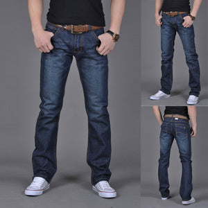 Men's Pure Color Cotton Denim Jean