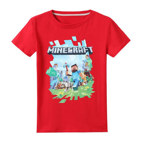 T shirt Minecraft Adventure Youth T-Shirt Kids Hooded Tops Tees Hoodies
