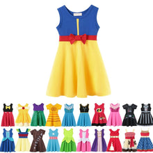 Load image into Gallery viewer, Girl Snow White Princess Dress Children Belle Ariel Aurora Elsa Anna Mickey Rapunzel Belle