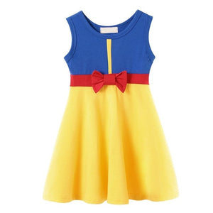 Girl Snow White Princess Dress Children Belle Ariel Aurora Elsa Anna Mickey Rapunzel Belle