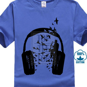 T Shirt Headphone Bass Clarinet