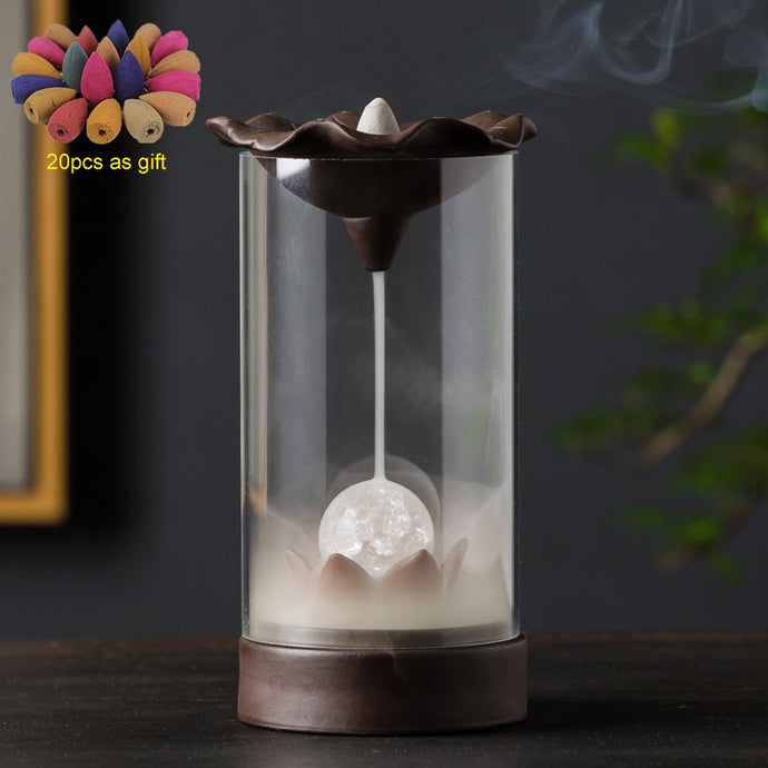 Led Back flow Incense Burner