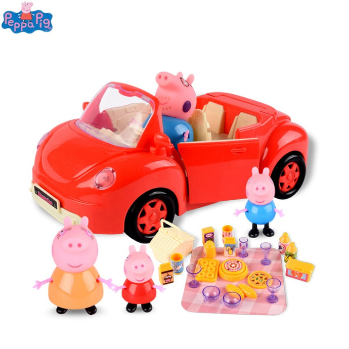Peppa pig George Toys Red Car Set Action Figure