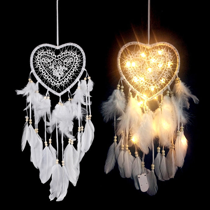LED Heart-Shaped Dream Catcher