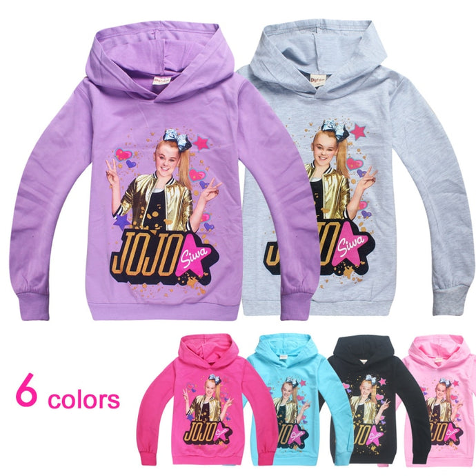 Cotton JOJO Siwa Girls Full Sleeves Hoodies