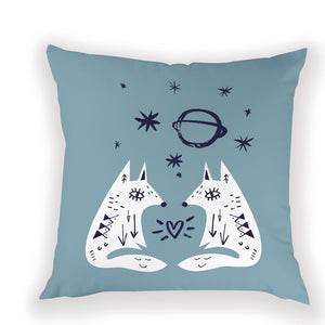 Festival Fox Pillow Case
