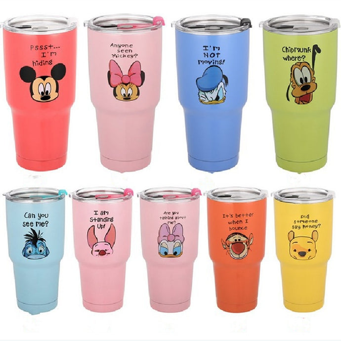 30oz 900mL Disney Stainless Steel Vacuum Insulation Car Mug