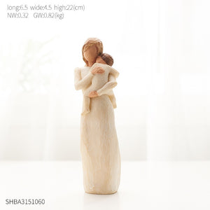 Nordic Style Love Family Figurines Resin Miniature