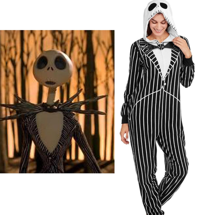 Nightmare Before Christmas Jack Adult Onesie Fleece Pajamas