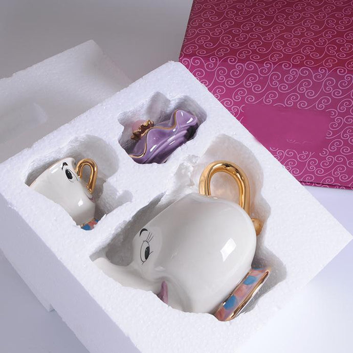 Beauty And The Beast Teapot Mug Mrs Potts Chip Tea Pot Cup One Set