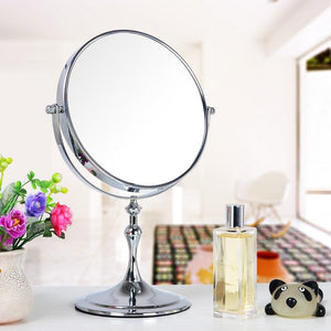 Table 8 Inch Mirror Standing Makeup Mirror Double Sided 3x Magnification