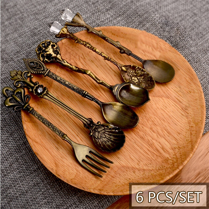 Vintage  Metal Carved  6 Pcs Set