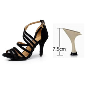 Black Salsa Shoes High heels 6/7.5/8.5cm