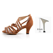 Load image into Gallery viewer, Black Salsa Shoes High heels 6/7.5/8.5cm