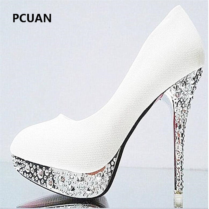 crystal sequins 11cm high heels