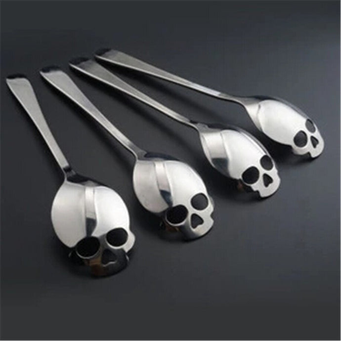 Stainless Steel coffee Scoop Skull