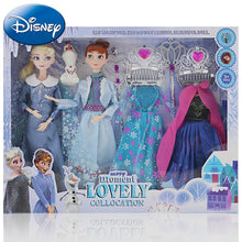 Load image into Gallery viewer, Frozen Elsa Anna Dress Dolls