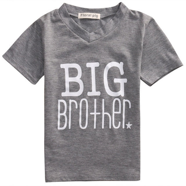 Newborn Baby Boys Bodysuit Big Brother T-shirt Tops Outfits Family Set