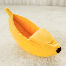 Load image into Gallery viewer, Green/Yellow Banana Shape Pet Dog Cat Bed