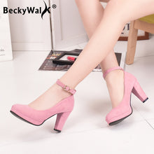 Load image into Gallery viewer, Women Pumps Platform Suede Shoes
