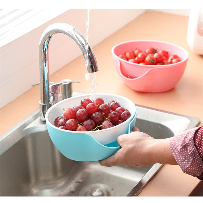 Tableware Fruit Tray bowl holder dish 2 In 1