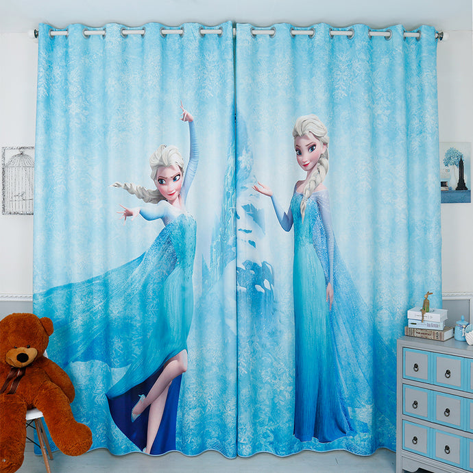 2x Grommet Window Drapery Curtain Elsa