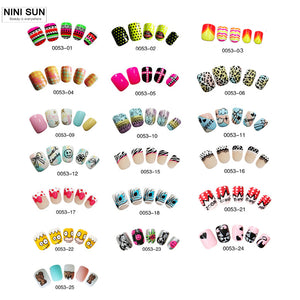 25 Designs  Fake Nails  24pcs