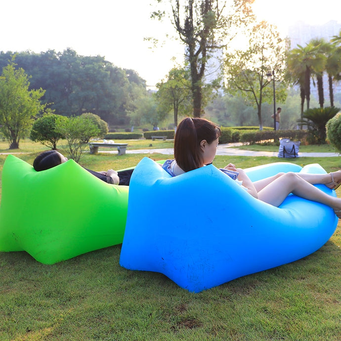 Outdoor Camping Waterproof Picnic Beach Inflatable Air Sofa Bed Beanbag Pad Lounge Chair