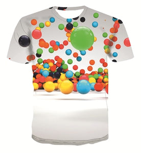 New geometric graphic fashion T-shirt men's